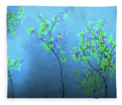 Artistic Trees 2 Fleece Blanket