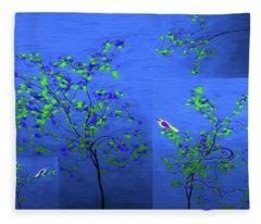 Artistic Trees 3 Fleece Blanket