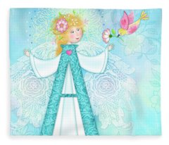 A Is For Angel Fleece Blanket