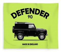 Land Rover Defender 90 Fleece Blanket