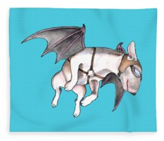 If Pigs Could Fly Fleece Blanket