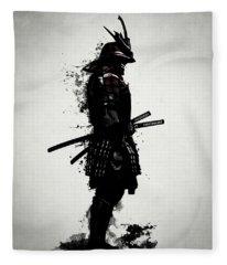 Armored Samurai Fleece Blanket