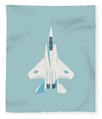 F15 Eagle Fighter Jet Aircraft - Sky Fleece Blanket