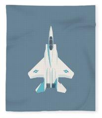 F15 Eagle Fighter Jet Aircraft - Slate Fleece Blanket