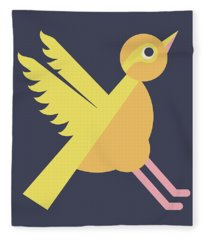 Letter X - Animal Alphabet - Xenops Monogram Fleece Blanket