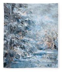 In The Snowy Silence Fleece Blanket