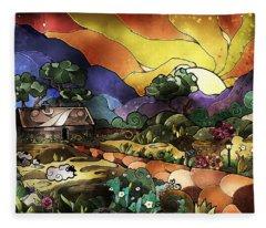 The Shepherd's Cottage Fleece Blanket
