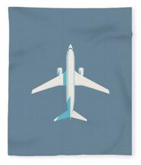 737 Passenger Jet Airliner Aircraft - Slate Fleece Blanket