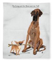 The Long And The Short And The Tall Fleece Blanket
