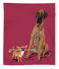 The Long And The Short And The Tall Colour Fleece Blanket