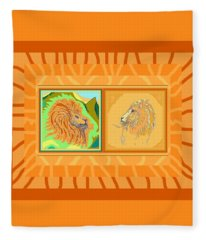 Lion Pair Warm Fleece Blanket