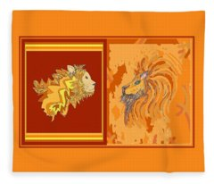 Lion Pair Hot Fleece Blanket