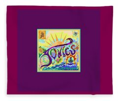 Joules Artist Tag Fleece Blanket