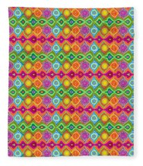 Mexican Colours Fleece Blanket