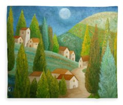 All Is Calm All Is Bright Fleece Blanket