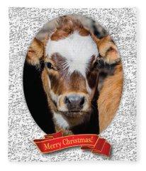 Patches Christmas Fleece Blanket