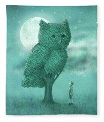 The Night Gardener Fleece Blanket