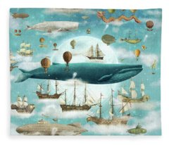 Ocean Meets Sky Fleece Blanket