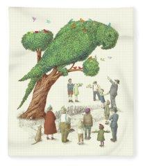 The Parrot Tree Fleece Blanket