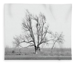 Oklahoma Tree Fleece Blanket