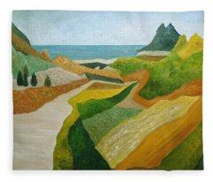 A Walk Down To The Sea Fleece Blanket