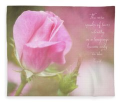 The Rose Speaks Of Love Photograph Fleece Blanket