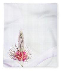 The Heart Of A Magnolia Fleece Blanket