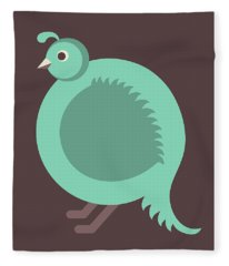 Letter Q - Animal Alphabet - Quail Monogram Fleece Blanket