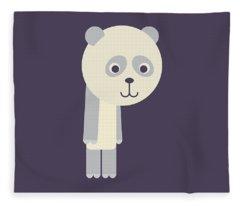 Letter P - Animal Alphabet - Panda Monogram Fleece Blanket
