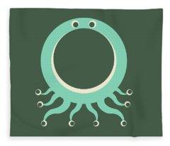 Letter O - Animal Alphabet - Octopus Monogram Fleece Blanket