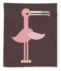Letter F - Animal Alphabet - Flamingo Monogram Fleece Blanket