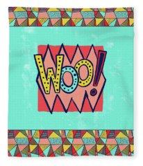 Woo Fleece Blanket
