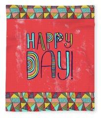 Happy Day Fleece Blanket