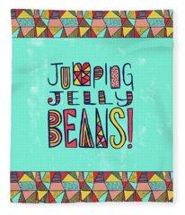 Jumping Jelly Beans Fleece Blanket