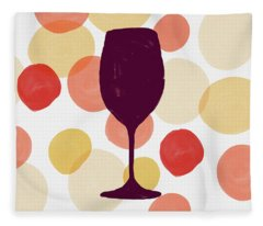 Bold Modern Wine Glass Art Fleece Blanket