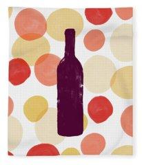 Bold Modern Wine Bottle Art Fleece Blanket