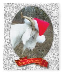 Santa Goat Fleece Blanket
