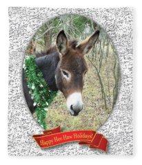 Happy Hee Haw Holidays Fleece Blanket