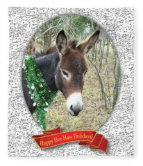 Happy Hee Haw Holidays Fleece Blanket