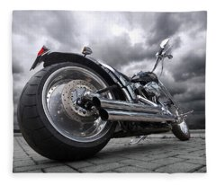 Storming Harley Fleece Blanket
