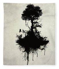 Last Tree Standing Fleece Blanket