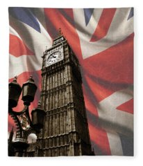 Big Ben London Fleece Blanket