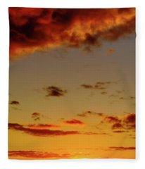 As The Sun Touches Fleece Blanket