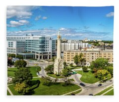 Fleece Blanket featuring the photograph Ascension Columbia St. Mary's Hospital by Randy Scherkenbach