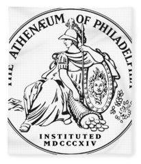 Athenaeum Of Philadelphia Logo Fleece Blanket