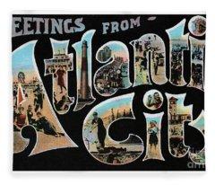 Atlantic City Greetings #1 Fleece Blanket