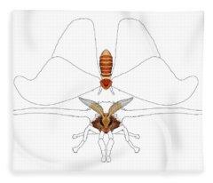 Atlas Moth1 Fleece Blanket