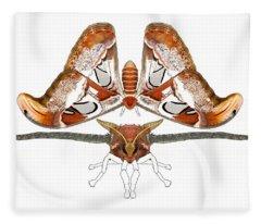 Atlas Moth3 Fleece Blanket