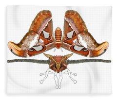 Atlas Moth4 Fleece Blanket