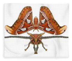 Atlas Moth5 Fleece Blanket